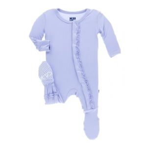 Kickee Pants Pajamas - Kickee Pants basic muffin ruffle footie in lilac